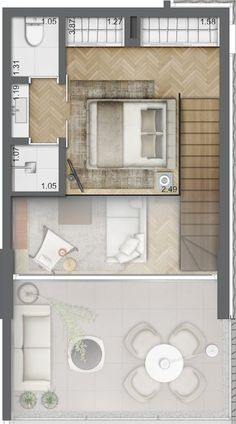 Tiny House Layout, House Layout Plans, Small House Plans, House Layouts, Apartment Plans, Apartment Design, Loft Plan, Sims House Design, Plans Architecture