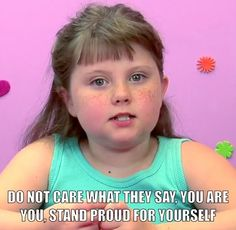 """Words of encouragement from Morgan of """"Kids React"""" in response to bullying."""
