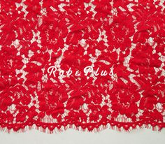 Corded Floral Lace Fabric with Scalloped Trim and by RobePlus