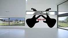 Rock On Guitars Wall Graphic Wall Art Wall Decals Music Wall Decor, Music Wall Art, Man Cave Wall Decals, Graphic Wall, Guitar Wall, Vinyl Wall Stickers, Guitars, Rock, Home Decor