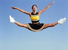 Ways to Train for Higher Cheerleading Jumps Building a Better Toe Touch–SO need to work on these before dance team tryouts Cheer Coaches, Cheer Mom, Cheer Hair, Cheerleading Stunts, Tight Back Muscles, Cheer Jumps, Cheer Workouts, Trampoline Workout, Cheer Pictures