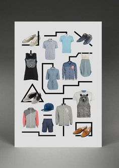 Minimalist Clothing - Fontvertising  Hadrien Lopez & Philippe Ortion Make Fashion Typography