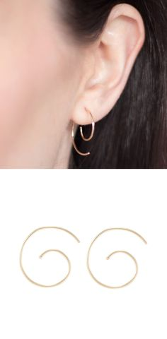 Natasha Sherling | Wolf & Badger  #earrings #gold #spiral