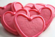 Cherry Cut Out Cookies with Cherry Icing @createdbydiane