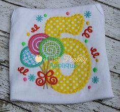 Lollipop Trio 5 Applique Design