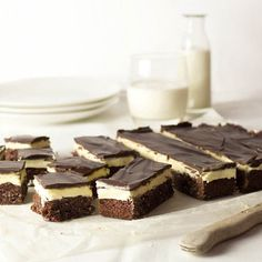 A Kiwi favourite - Chocolate Peppermint Slice. And it's gluten-free! Chocolate Coconut Slice, Coconut Icing, Peppermint Slice, After Dinner Mints, Sweet Bar, Cooking Chocolate, Death By Chocolate, Gluten Free Cakes, Brownie Bar