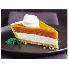 Cheese, Double Layer Pumpkin Pie, A Fluffy Cream Cheese And Whipped Topping Layer Is Spread Onto The Bottom Of A Graham Cracker Crust. And Then Comes The Pudding, Pumpkin And Spice Layer. This Luscious Pie Is Then Chilled And Garnished With Ginger-Flavore Brownie Desserts, Oreo Dessert, Mini Desserts, Coconut Dessert, Just Desserts, Dessert Recipes, Pudding Recipes, Double Layer Pumpkin Cheesecake, No Bake Pumpkin Pie