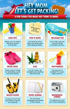 Some great packing ideas from Carnival!