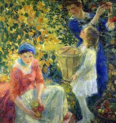poboh:  The Apple Gatherers, 1912, Karl Anderson. (1874 - 1956)