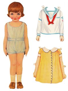Gertrude Paper Doll