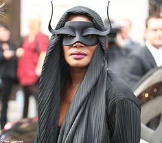 Grace Jones wearing a mask to the Q Awards
