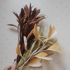 """Autumn foliage - Paper Flowers (@flowersdecor_spb) on Instagram: """"Немного зелени ещё Только теперь она уже осенняя . . . . . . #праздничныйдекорспб #декорспб…"""""""