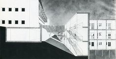 Aldo Rossi Drawing- Sectional Perspective.