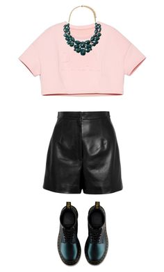 """friday"" by miriamfranzan on Polyvore featuring Balenciaga, Dr. Martens and Forever 21"