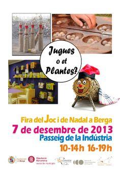 Cartell Fira del Joc de Nadal a Berga. http://firadeljocberga.wordpress.com/