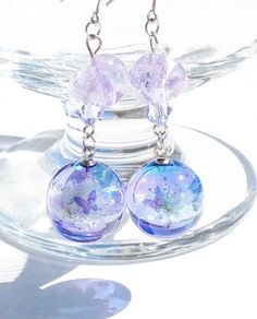 [★PSYCHE☆] Day Dream【菫ノ見ルユメ】 ピアス/イヤリング【毎夏限定】 Kawaii Jewelry, Kawaii Accessories, Cute Jewelry, Jewelry Accessories, Jewelry Design, Resin Jewelry, Crystal Jewelry, Jewelry Crafts, Magical Jewelry