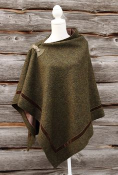 Harris Tweed Moss Wrap with ribbon border Harris Tweed, Sewing Patterns Free, Free Sewing, Refashion, Dressmaking, What To Wear, Cool Outfits, Womens Fashion, Petite Fashion