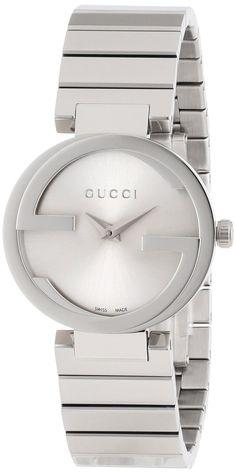 Gucci Women's #YA133503 Interlocking Iconic Bezel Silver Dial Watch