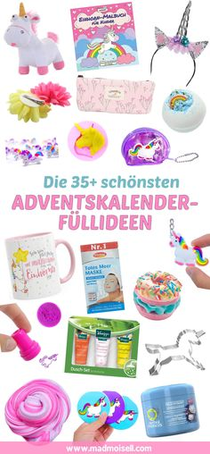 Fill advent calendar: The most beautiful advent calendar filling ideas for unicorn fans! Christmas Diy, Xmas, White Out Tape, Advent Calendar, Diy And Crafts, Birthday Parties, Presents, Beautiful, Rebel
