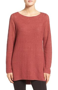Free shipping and returns on Eileen Fisher Lightweight Organic Linen Knit Bateau Neck Sweater (Regular & Petite) at Nordstrom.com. A texturally rich yet airy-light knit is spun from pure organic linen and shaped for a lovely layering sweater with a graceful bateau neckline and curved high/low hem.