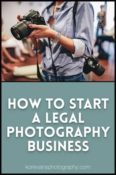 Most photographers have already been in business for awhile, but they more than likely have not been operating legally. I made a quick list of the simple things you can start looking into today, to start your legal photography business. Starting Photography Business, How To Start Photography, Best Camera For Photography, Freelance Photography, Photography Articles, Scenery Photography, Hobby Photography, Photography Marketing, Photography Basics