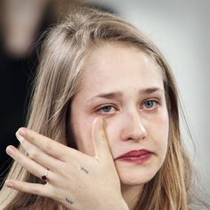"""made Jemima Kirke cry in the presence of Marina Abramovic. Kirke plays Jessa on """"Girls"""" and considers herself an artist first. Jemima Kirke Tattoos, Marina Abramovic, Tattoo People, Modern Metropolis, Museum Of Modern Art, Cool Eyes, Amazing Photography, Crying, Tumblr"""