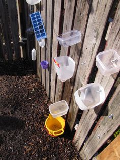 Love this fun water wall. Easy to make and it has movable parts for more exploration!