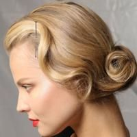 A pinned updo from Christian Dior Spring/Summer 2012