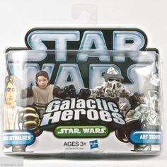 Star Wars Galactic Heroes Anakin Skywalker & ARF Trooper Figurines Hasbro New #Hasbro