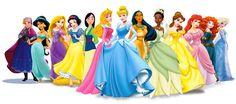 The new Disney Princess Line-up (Anna, Jasmine, Rapunzel, Snow White, Mulan, Aurora, Cinderella, Pocahontas, Tiana, Belle, Ariel, Merida, Elsa)