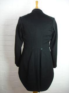 Edwardian Era Tailcoat (back) http://www.ebay.com/itm/EDWARDIAN-ERA-VINTAGE-EVENING-TAILCOAT-TAILS-for-WHITE-TIE-38-/370638278523?pt=UK_Men_s_Vintage_Clothing=item564bc34f7b=true=ft6Ay8ilYQxBzMvuc54ypMBQDc0%3D_cvip=true=nc&_trksid=p2047675.l2557