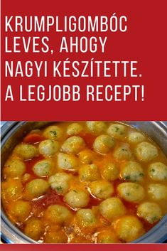 Csodás recept! #krumpli #krumplis #leves #recept Soup Recipes, Dinner Recipes, Cooking Recipes, Easy Healthy Recipes, Vegetarian Recipes, Hungarian Recipes, Food Humor, My Favorite Food, Street Food