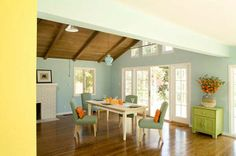 15 Dining Room Paint Ideas for Your Homes - Decoration for House Dining Room Paint, Dining Room Colors, Dining Room Design, Dining Area, Pastel Walls, Blue Walls, Paredes Color Pastel, Interior Pastel, Wall Color Combination