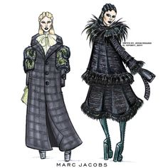 Marc Jacobs Fall '16 illustrated by Jovan Rosario