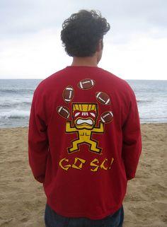 Back of USC Football TIKI shirt