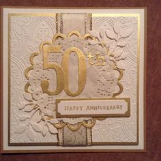 50th wedding anniversary card by Gilly Haigh