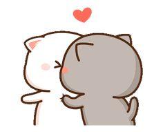 Cute Anime Cat, Cute Bunny Cartoon, Cute Couple Cartoon, Cute Kawaii Animals, Cute Cartoon Pictures, Cute Love Pictures, Cute Love Cartoons, Cute Cat Gif, Cute Images
