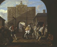 William Hogarth, O the Roast Beef of Old England (or The Gate of Calais): oil on canvas, 1748 (London, Tate Britain)