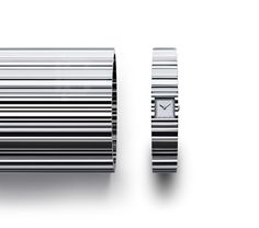 tokujin yoshioka defines V watch for issey miyake with deep angled cuts
