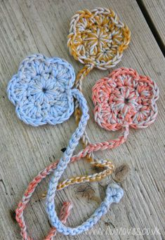 DIY Crochet DIY Yarn: DIY Crochet - Flower Bookmark Pattern