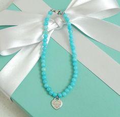 bd15360b5ef5 Tiffany   Co Return To Tiffany Heart Tag Blue Amazonite Bead Beaded  Bracelet  TiffanyCo  Beaded