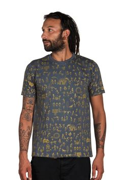 Geometric T shirt All over print Indian Art shirt by CreativeCult