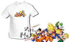 CAMISETA-DRAGON-BALL-PERSONAJES-bola-de-dragon-tshirt-t-shirt-xxl-luchando-nino