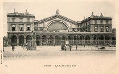 Les gares du Paris d'antan La gare de l'Est vers 1900.