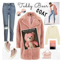 """topshop teddy coat"" by katymill ❤ liked on Polyvore featuring Topshop, Topshop Unique, Delvaux, MAC Cosmetics, ZeroUV, Giuseppe Zanotti, topshop and teddybearcoat"