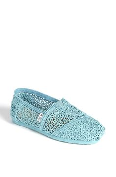 Blue Crochet TOMS!!!!! I want some!! Or in white.