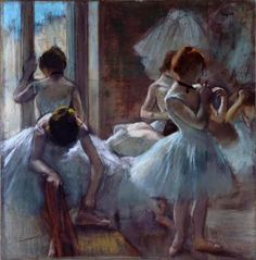 Edgar Degas. Groupe de danseuses Vers 1884-1885. Pastel
