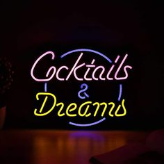 Whether you're opening your own bar or need a little something extra for your terrace, outdoor kitchen or bar corner in your home, this signs will instantly make you feel like you just arrived in your private island bar. Neon Signs Uk, Neon Home Decor, Island Bar, Neon Aesthetic, Wow Factor, Led Signs, Wow Products, How To Become, Cocktails