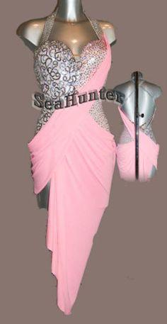 Sexy Multi-Color Ballroom Cha Cha Ramba Latin UK12/ US10 Dance Dress #Ld1649