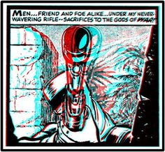 3-D Comic Books - 3dfilmarchive 3 D, Comic Books, Comics, Glitch, Classic, Movie Posters, Painting, Fictional Characters, Image